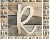 Unfinished Wooden Alphabet Letters, Door Hanger, Wall Decor, Colleen, Craft Letter, Full Alphabet Available, Art and Decor Letter, Font