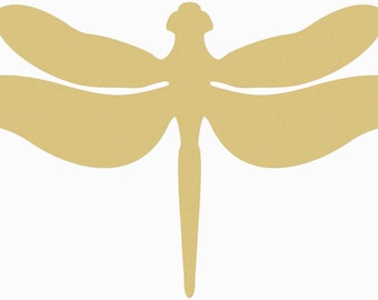 REALISTIC DRAGONFLY Unfinished Wooden Craft Shape, Do It Yourself, Wooden Dragonfly Cutout, Paintable Dragonfly Door Hanger, Wall Craft, DIY