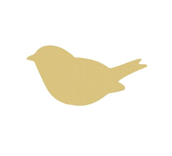 Bienvenue oiseau signe-en bois découpées au laser mdf Craft blanks formes