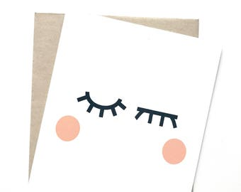 Everyday card - Simple card - Winking eyes card