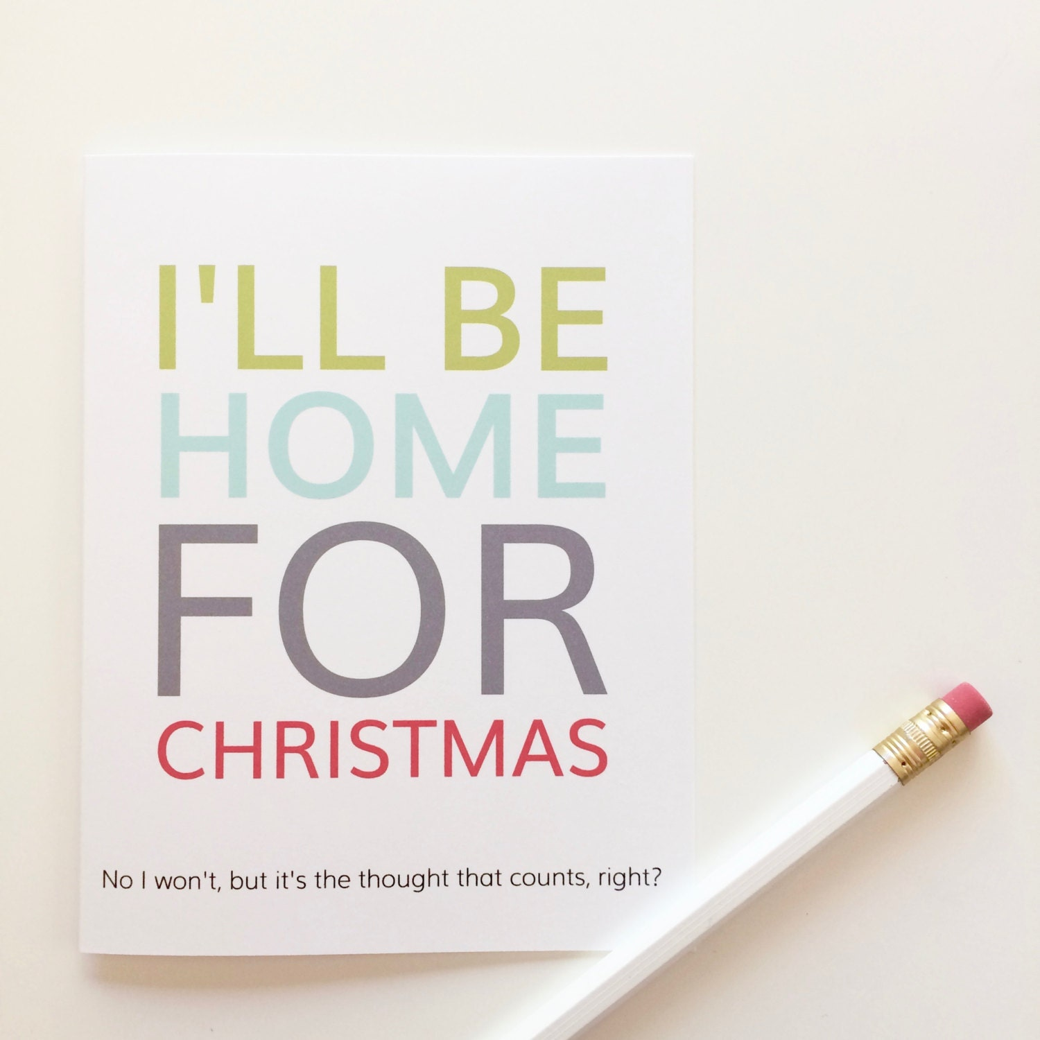 Funny Christmas card. I\'ll be home for christmas. Funny | Etsy