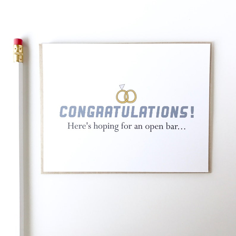 Congrats Engagement Congratulations Wedding Congratulations Funny Wedding Card.