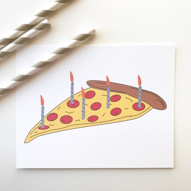 Pizza Birthday Card Funny