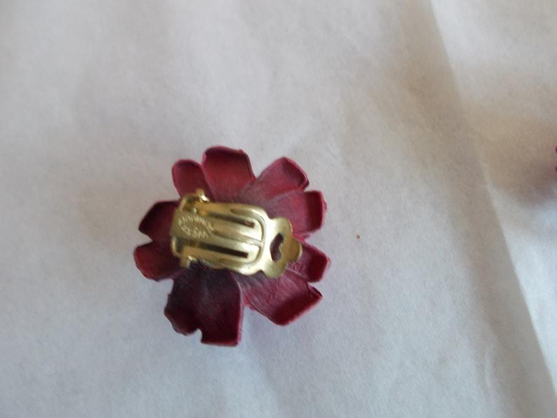 Vintage West Germany Rose Pink Flower Brooch