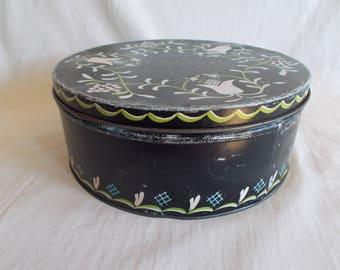 Vintage Saul Stein Flower Tin Can