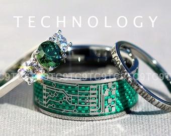 circuit board ring etsy
