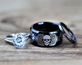 Skull Wedding Set Etsy