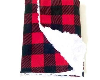 Luxury Baby Blanket, Medium Buffalo Plaid Baby Blanket. Receiving Blanket. Lumberjack Baby. Plaid Baby Blanket. Faux Fur Baby Blanket. Gift