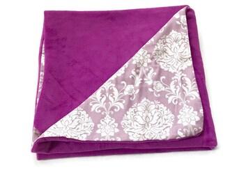 Large Purple Baby Blanket, Baby Girl Blanket, Chic, Receiving Blanket, Baby Girl, Girls, Toddler Girls Blanket, Swaddle, Gift, BizyBelle