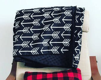 Throw Blanket Arrow. Adult Blanket. Twin Bed Blanket. Tribal Blanket. Black White. Minky Blanket. Blanket. BizyBelle