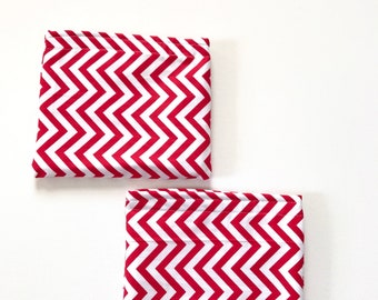 Set of 2 Kid's Red Snack Bags, Waterproof Snack Bags, Chevron Bag, Women's Snack Bags, Reusable Snack Bag, Gift, Ready To Ship, BizyBelle