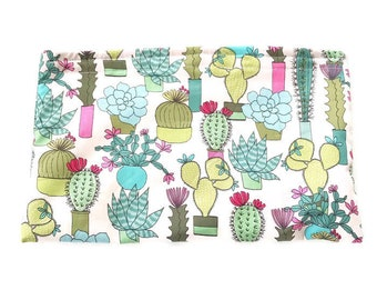Cactus Wet Bag, Women's Wet Bag, Reusable Bag, Waterproof Bag, Succulents, Cactus, Make Up Bag, Snack Bag, Toiletry Bag, BizyBelle, Gift