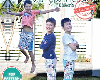 PATTERN Boys Adventure Cargo Pants & Shorts - PDF Sewing Pattern - Instant Download - Pattern Emporium