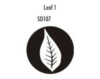 Stock Clay Stamp - Leaf #1  (SD107)