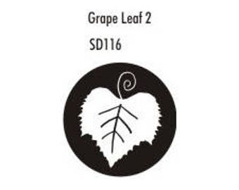 Stock Clay Stamp - Grape Leaf #2  (SD116)