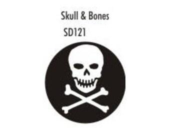 Stock Clay Stamp - Skull & Bones  (SD121)