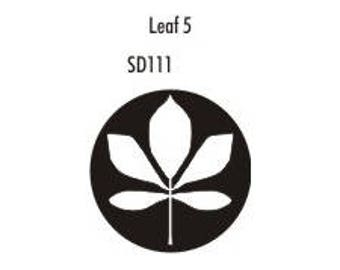 Stock Clay Stamp - Leaf #5  (SD111)
