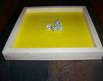 Dice tray, dice tower, yahtzee, game table, dice box, party games, family gathering, game night, game board, keeps your dice from scattering