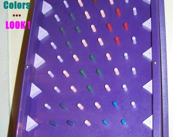 Painted plinko game, choose 2 colors, tabletop, great for parties, trade shows, events, office, home. Hardwood, Freestanding/play on a wall