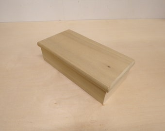 Wooden box with lid, trinket box, jewelry box, keepsake box, wooden stash box, wedding box, gift box, box for photos, baby keepsake box