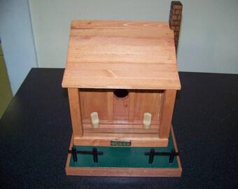 Birdhouse, cabin, home decor, bluebird house, wren house, cabin decor, outdoor, gift, rustic cabin, rustic decor,