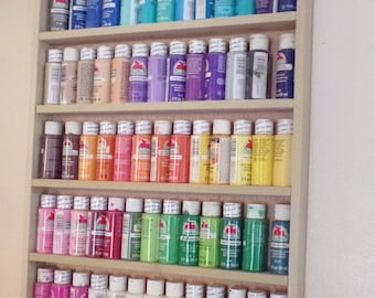 Craft paint rack, paint storage, arts and crafts, acrylic paint storage, artist paint storage, water color supplies, craft room supplies,