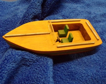 Toy boat, wooden boat, bathtub toy, cruiser boat, toy fishing boat, floating toy boat, nautical decor, toy row boat, pool toy, river boat