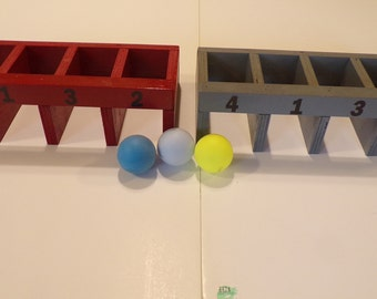 Ball roll game, game of skill, tabletop game, wooden game, carnival game, numbers game, party game, game room, family game, fun for all age