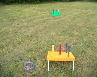 Ring toss game, cornhole, outdoor game, yard game, lawn game, for parties, beach, cabin, camping, home, family, schools, fun for all ages.