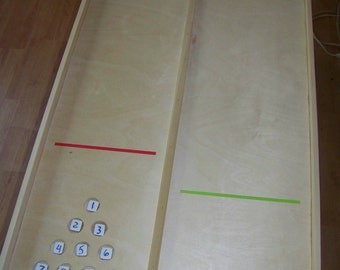 Game, shuffleboard, rebound, plinko, marble run, marble game, tailgating, party, home, carnival, trade show, lawn game, board game