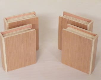 Wooden books, book, library, teacher, office, gift, home decor, tablet, reading, den, display, education, handmade, original