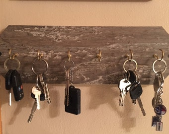 Key Rack, Key Holder, Key Hook, Key Organizer,  Wall Key Hooks, Rustic Key Holder, Home Decor, Home Organization, Car Keys Rack, Car Keys