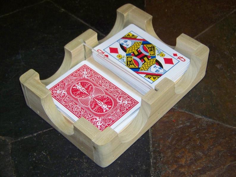 playing card holder playing card rack bridge poker  etsy