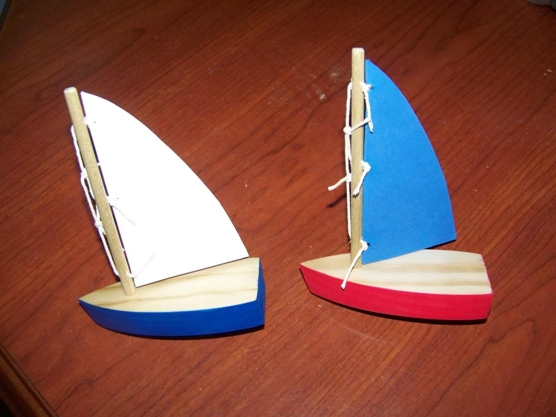 Wooden sail boat, toy boat, wooden boat, birthday boat, birthday ...
