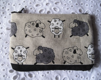 Funky Sheep make up bag x 1