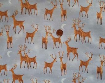 Deer print fabric - Half yard