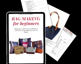 Bag Making for Beginner Ebook. How to sew purses, Download Ebook