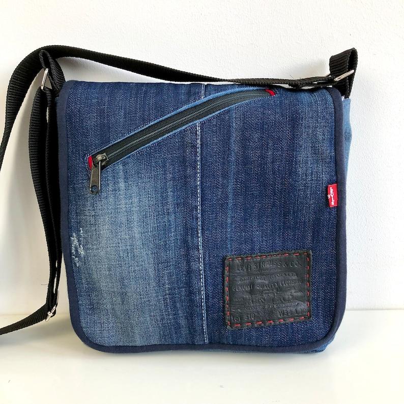 Denim Messenger Bag Pattern image 0