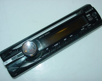 sony cdx-gt350mp cd receiver aux-in detachable face plate only for car  stereo -free ship-