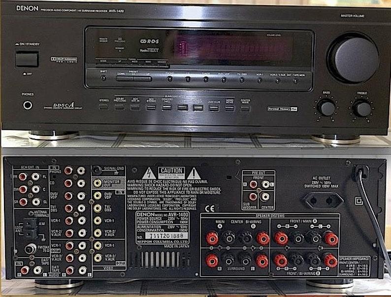 Denon AVR-1400 AV Surround Audio File 5 1 Channel Receiver Rare 1990's  Audio Japan