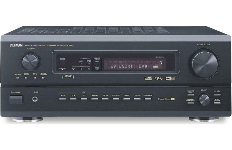 Denon AVR-3802 7 1 AV Surround Sound Home Theater Receiver w/ Remote Japan  -Free Ship-