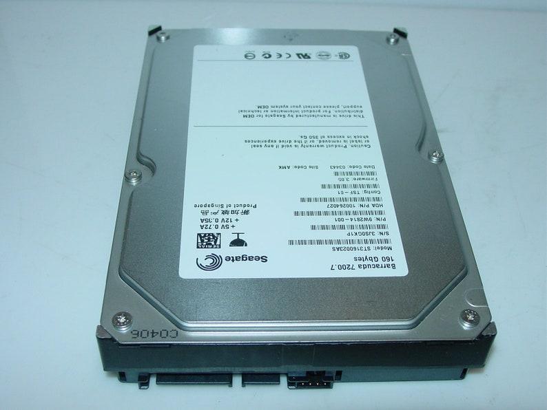 PN:9W2814-001 160GB SATA 3.5 Internal Hard Drive Seagate Barracuda 7200.7 ST3160023AS Free-Ship