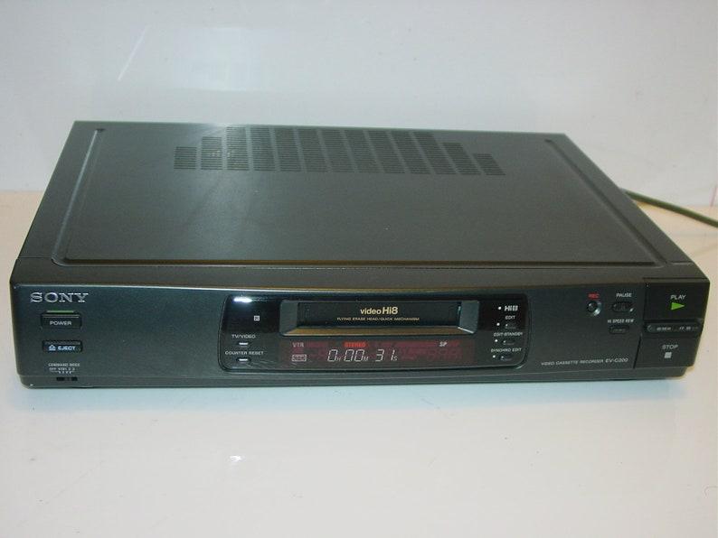 Sony EV-C200 Hi8 8mm Editing Video Cassette Recorder Player Vintage Audio  1990s Japan