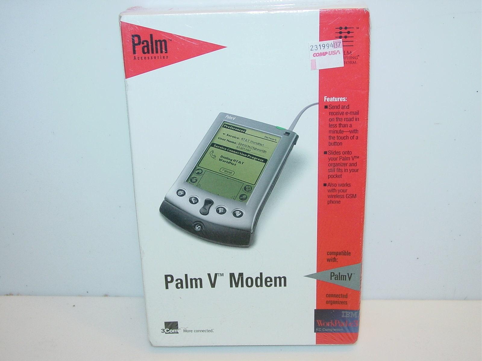 3Com Genuine Palm V Modem 10401U IBM WordPad c3 New Sealed 10401