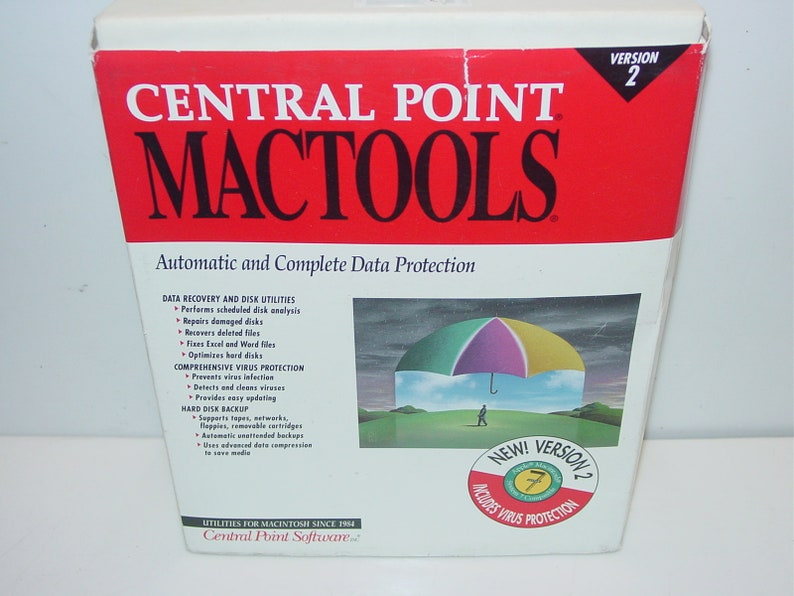 Vintage Central Point Mactools 2 0 for Apple Macintosh System 7 Software  1992 w/ Microsoft Word 5 0 New