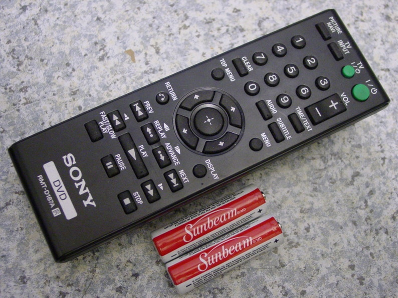 Sony Rmt-D187A DVD Player Remote Control for  Dvp-SR200P,DVP-SR400P,DVP-SR510P FF01- Free Shipping