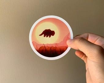 Appa Sunset Sticker // Avatar the Last Airbender Sticker