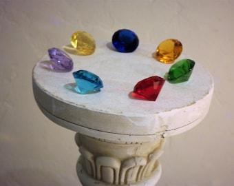 Sailor Moon Seven 7 Rainbow Crystals Prop Cosplay Display set Large 40MM