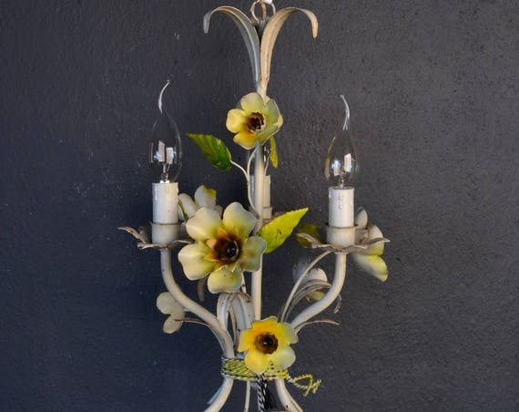 Beautiful painted toleware chandelier