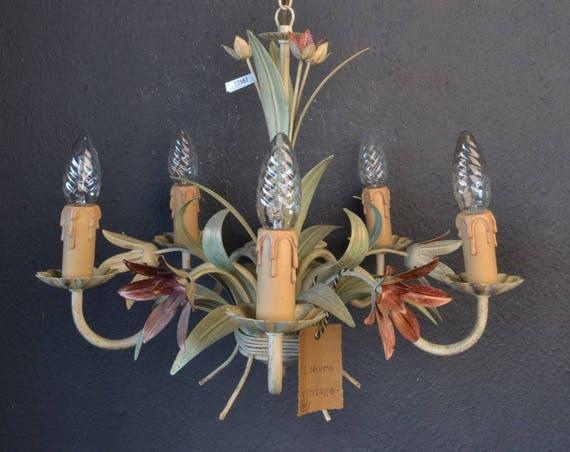Beautiful toleware flower chandelier